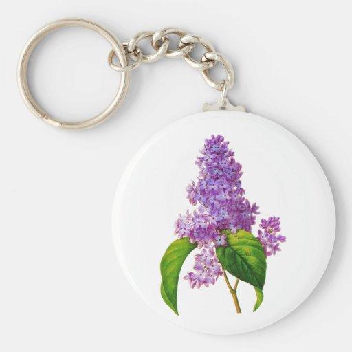 Lilas púrpuras de Pedro-José Redoute Llaveros Personalizados