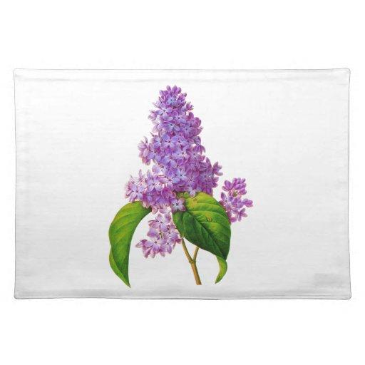 Lilas púrpuras de Pedro-José Redoute Manteles