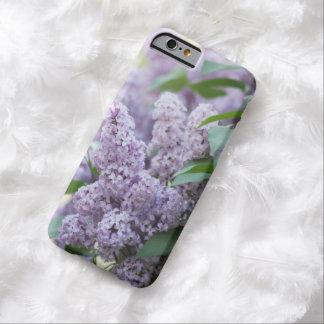 Lilas púrpuras en colores pastel pasadas de moda funda de iPhone 6 barely there