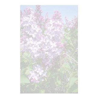 Lilas púrpuras Fade25 Papelería Personalizada