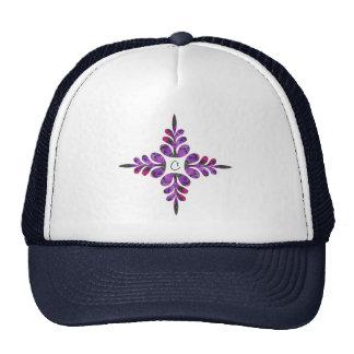 Lilas rosadas y púrpuras gorras de camionero