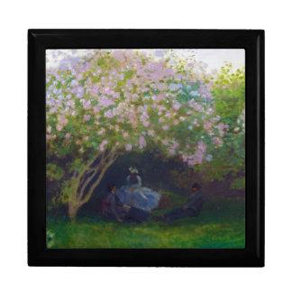 Lilas, tiempo gris Claude Monet Caja De Joyas
