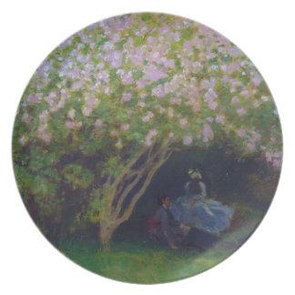 Lilas, tiempo gris Claude Monet Plato