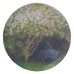 Lilas, tiempo gris Claude Monet Platos Para Fiestas
