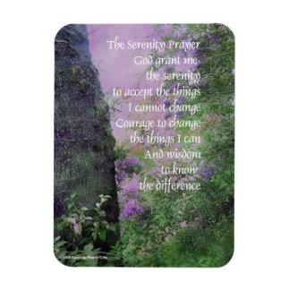 Lilas y árboles del rezo de la serenidad imán