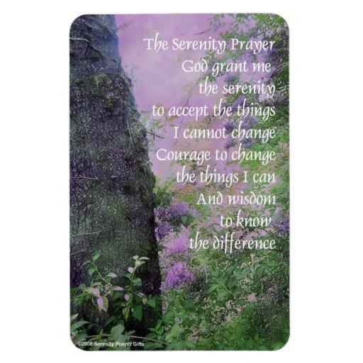 Lilas y árboles del rezo de la serenidad imanes