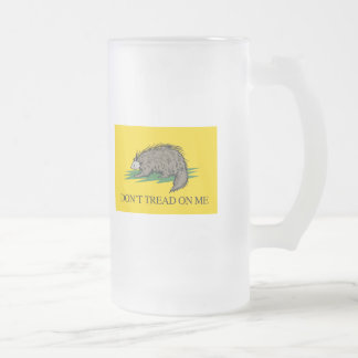 Lilbertarian - Don't Tread on Me Flag - -  Frosted Glass Beer Mug