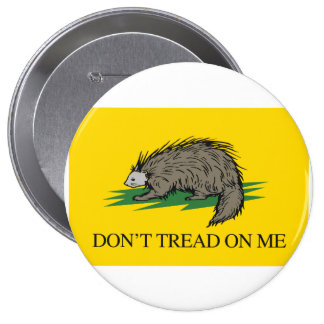 Lilbertarian - Don't Tread on Me Flag - -  Pinback Button