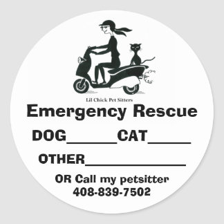 LILCHICK_LOGO 2, Emergency Rescue,... - Customized Classic Round Sticker