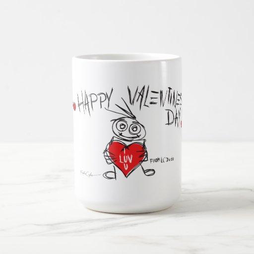 lil'DudE feliz del día de San Valentín Taza De Café