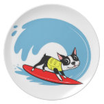 Lili Chin Surfing Boston Collection Dinner Plate
