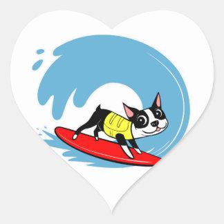 Lili Chin Surfing Boston Collection Heart Sticker