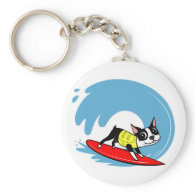Lili Chin Surfing Boston Collection Key Chains