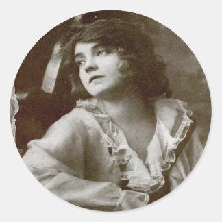 Lilian Gish Classic Round Sticker