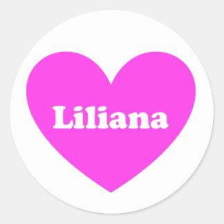 Liliana Classic Round Sticker