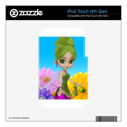 """""""Liliana"""" Garden Fairy Decals For iPod Touch 4G"""