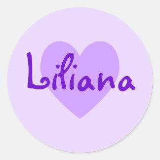 Liliana in Purple Classic Round Sticker