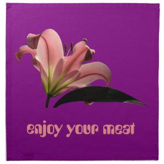 Lilie auf lila napkin