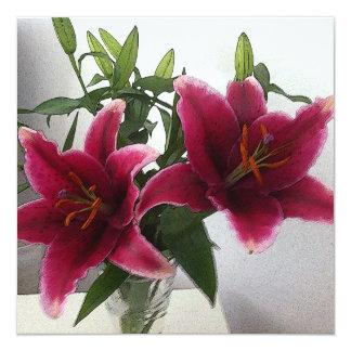Lilies2013 Invitación 13,3 Cm X 13,3cm