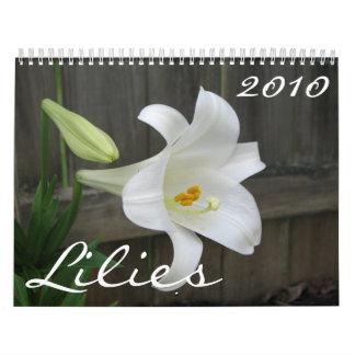 Lilies 2010 calendar