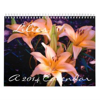 Lilies - 2014 Calendar
