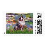 Lilies 2 - Aussie Shep 1 Postage Stamp