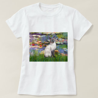 Lilies 2 - Blue Point Siamese cat T-Shirt