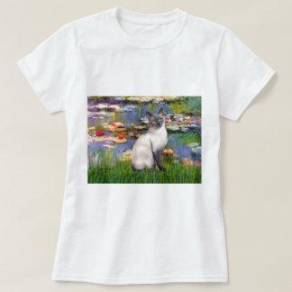 Lilies 2 - Blue Point Siamese cat T-Shirt