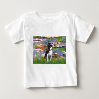 Lilies #2 - Boston Terrier 2 Baby T-Shirt