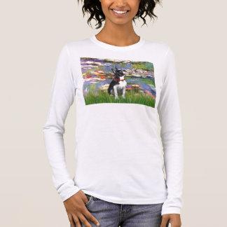 Lilies #2 - Boston Terrier 2 Long Sleeve T-Shirt