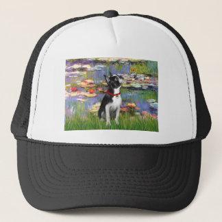 Lilies #2 - Boston Terrier 2 Trucker Hat