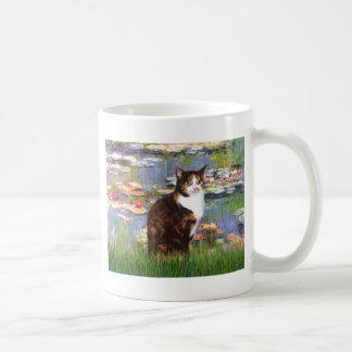 Lilies 2 - Calico cat Coffee Mug