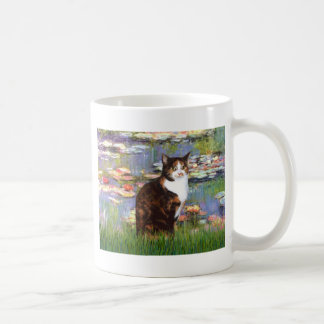 Lilies 2 - Calico cat Mugs