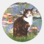 Lilies 2 - Calico cat Sticker
