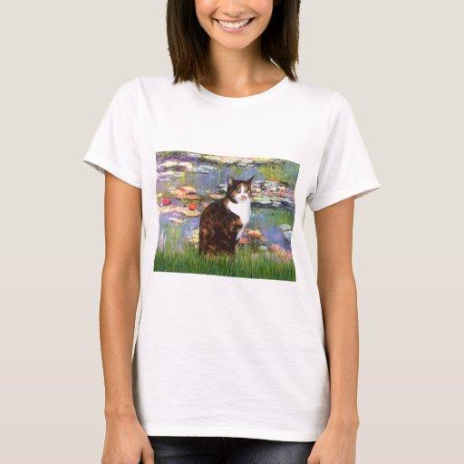 Lilies 2 - Calico cat T-Shirt