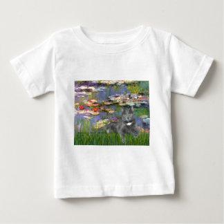 Lilies 2 - Grey cat Baby T-Shirt