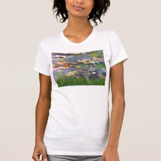 Lilies 2 - Grey cat T-Shirt