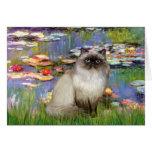 Lilies 2 - Himalayan cat 7 Greeting Cards