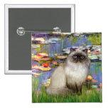 Lilies 2 - Himalayan cat 7 Pinback Button