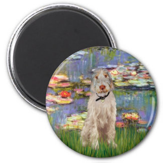 Lilies #2 - Italian Spinone #12 2 Inch Round Magnet