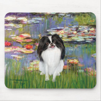 Lilies 2 - Japanese Chin 3 Mouse Pad