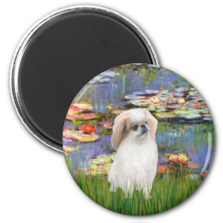 Lilies 2 - Japanese Chin (L2) 2 Inch Round Magnet