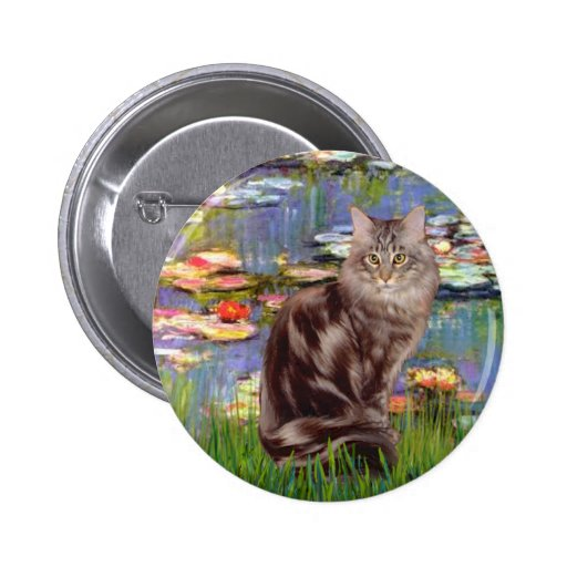 Lilies 2 - Maine Coon cat 10 Pin