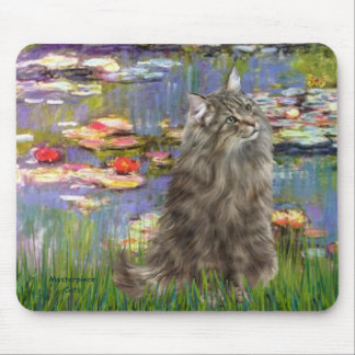 Lilies 2 - Norwegian Forest cat Mouse Pad