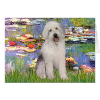 Lilies 2 - Old English Pup Card