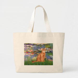 Lilies 2 - Red Abyssinian Large Tote Bag