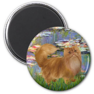 Lilies 2 - Red Persian cat Magnet
