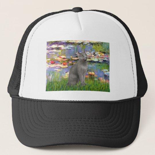 Lilies 2 - Russian Blue cat Trucker Hat
