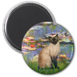 Lilies 2 - Seal Point Siamese cat Fridge Magnets