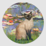 Lilies 2 - Seal Point Siamese cat Stickers
